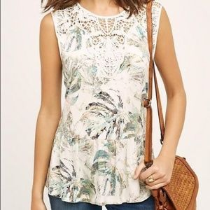 Anthropologie Meadow Rue Lia Floral Lace Tank Top